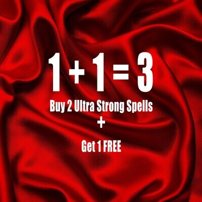 Buy 2 Ultra Strong Spells Get 1 Free