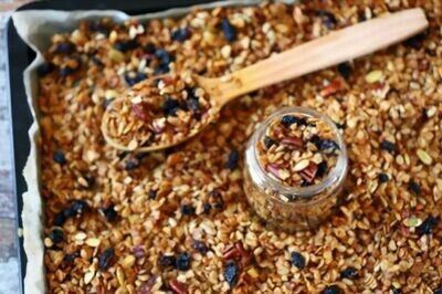 Oats ,Nuts ,Seed, berries Granola