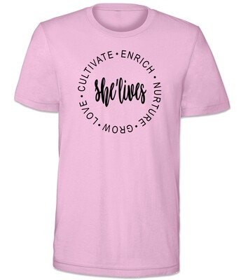 The She Lives Shirt (Pink)