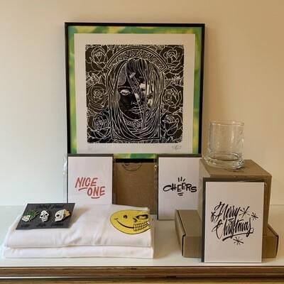 Mark van Goss t-shirt 'Curious fiend' _Medium