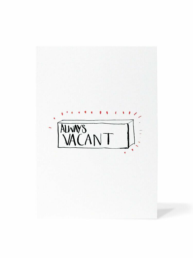Mark van Goss _Card 'Always Vacant'