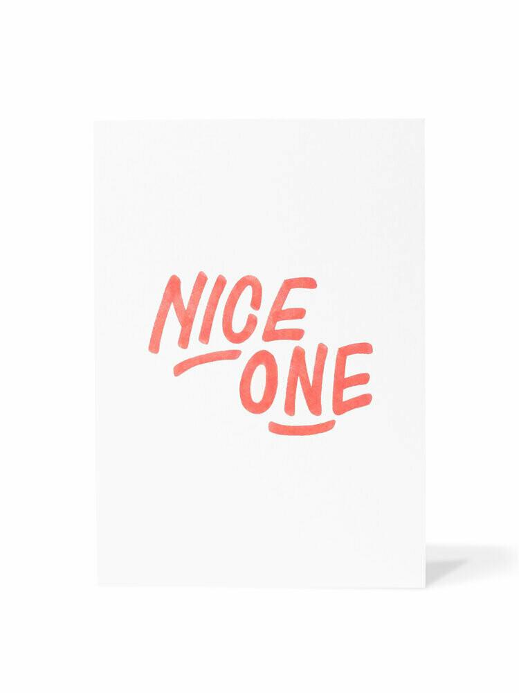 Mark van Goss _Card 'Nice one'