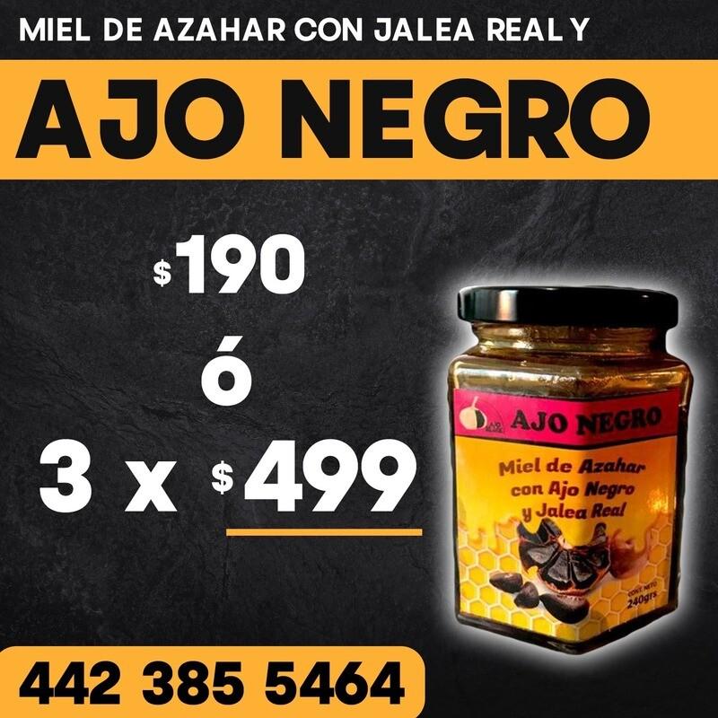Ajó negro con miel de azahar y jalea real