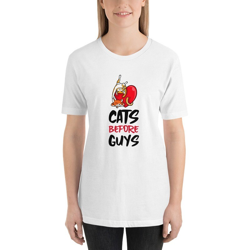 Cat's Before Guy's Funny  Short-Sleeve Unisex T-Shirt
