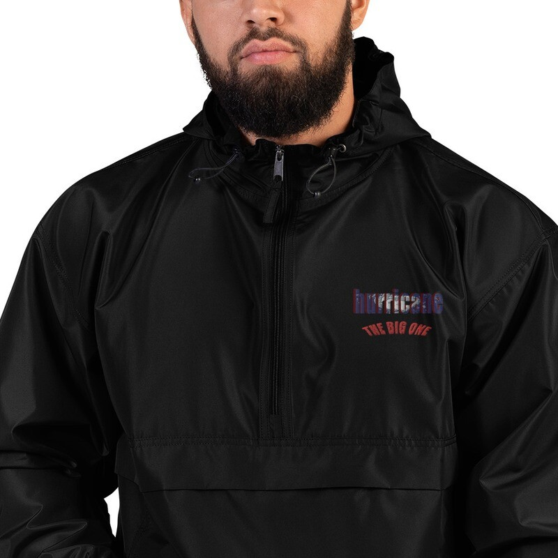 HURRICANE THE BIG ONE Embroidered Champion Packable Jacket