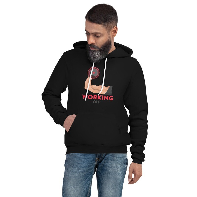 LET'S WORK OUT !! Unisex hoodie
