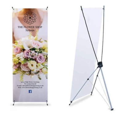 """""""X-Style"""" Collapsible Banner Stand - 2 Feet x 5 Feet"""
