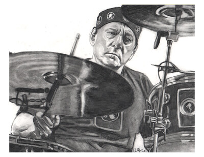 Neil Peart Print (100% profit goes to Brain Tumour Foundation of Canada)
