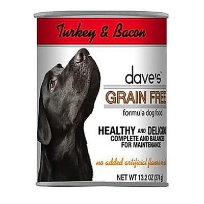 Daves Dog GF Turkey/Bacon 13oz