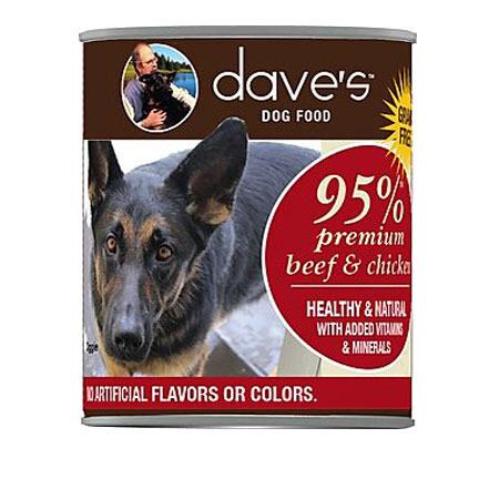 Daves Dog 95% Beef/Chick 12oz