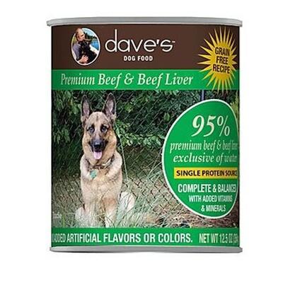 Daves Dog 95% Beef 13oz