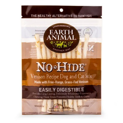 Earth Animal No Hide Venison Stix 10ct