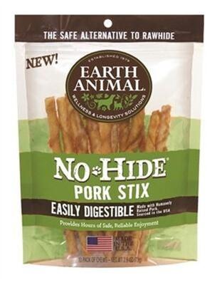 Earth Animal No Hide Pork Stix 10ct