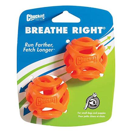 Chuckit Breathe Right Fetch Ball S 2pk