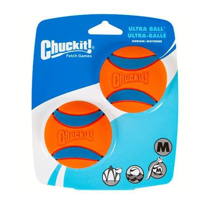 Chuckit Ultra Squeaker Ball M 2pk