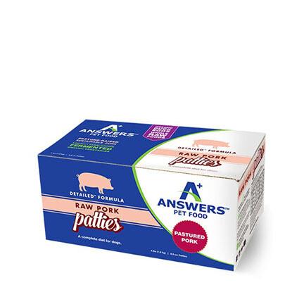 Answers FRZ Dog Pork Patties 4#