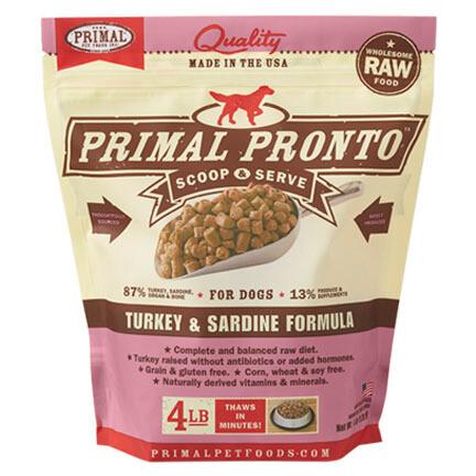 Primal Dog Pronto Turkey/Sard 4#