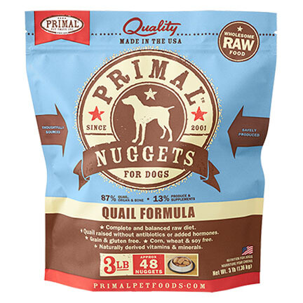 Primal Dog Nuggets Quail 3#