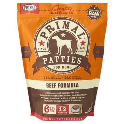 Primal Dog Patties Beef 6#