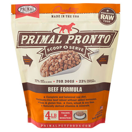 Primal Dog Pronto Beef 4#