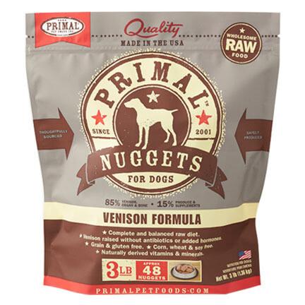 Primal Dog Nuggets Venison 3#