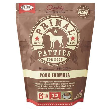 Primal Dog Patties Pork 6#