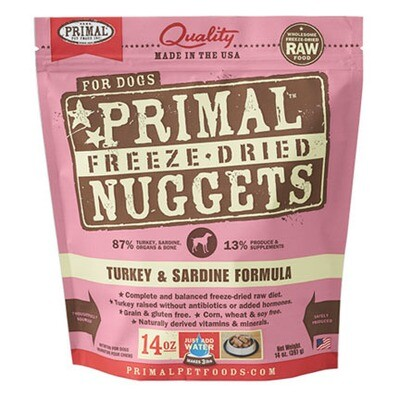 Primal Dog FD Turkey/Sard 14oz