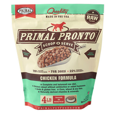 Primal Dog Pronto Chicken 4#