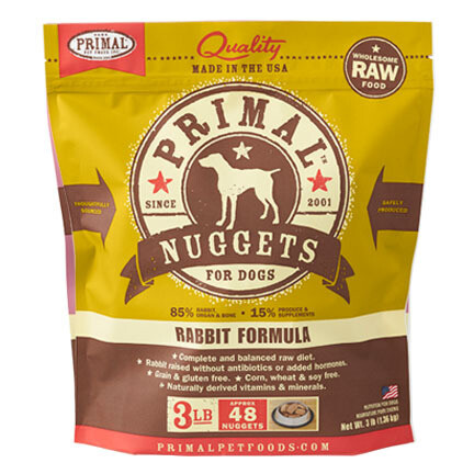 Primal Dog Nuggets Rabbit 3#