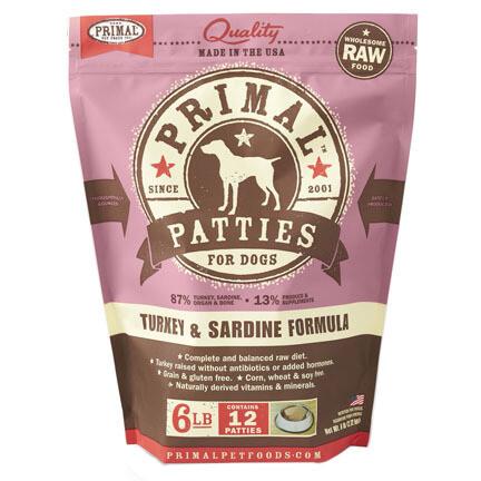 Primal Dog Patties Turkey/Sard 6#