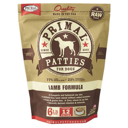 Primal Dog Patties Lamb 6#