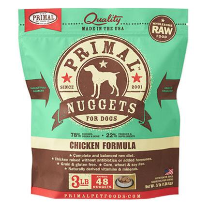 Primal Dog Nuggets Chicken 3#