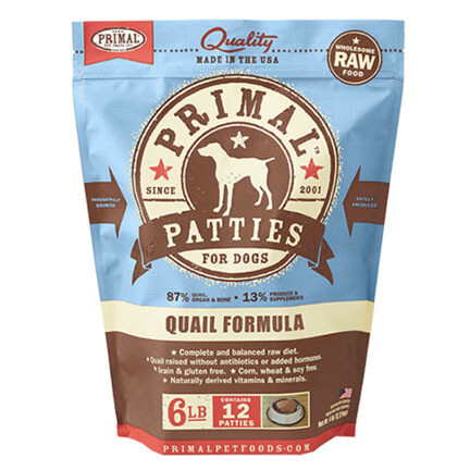 Primal Dog Patties Quail 6#