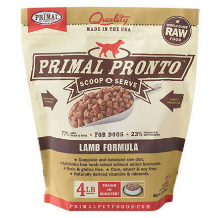 Primal Dog Pronto Lamb 4#