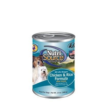 NutriSource Dog Chicken/Rice 13oz