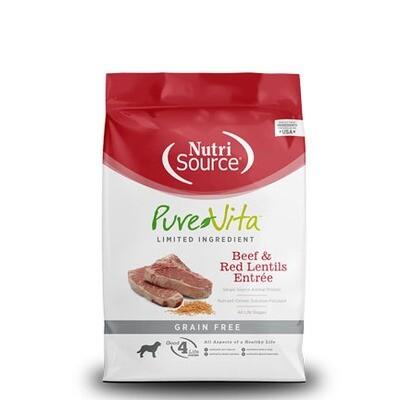PureVita Dog GF Beef Lentil 15#