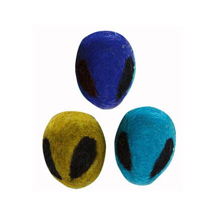 Dharma Cat Wool Alien Head Toy