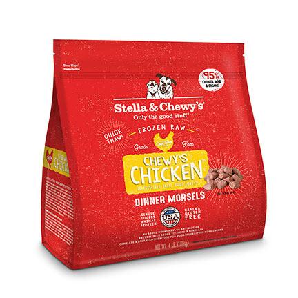 Stella Dog FRZ Morsels Chicken 4#