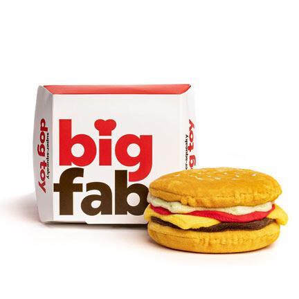 FabDog Cheesburger Plush