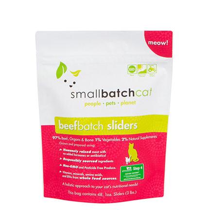 Small Batch FRZ Cat Sliders Beef 3#