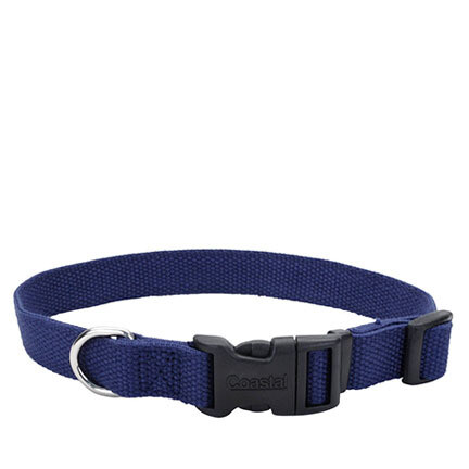 Coastal Soy Dog Collar L Indigo