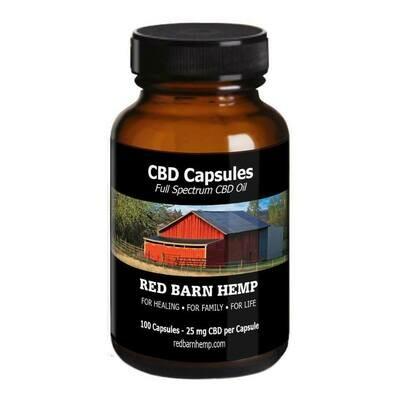 CBD Oil Capsules - 25mg/Capsule