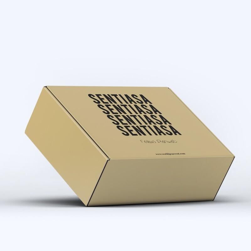 BUNDLE BOX SET 3 (Sentiasa Red Blue Glitch Exclusive T-Shirt, Cap, Totebag)