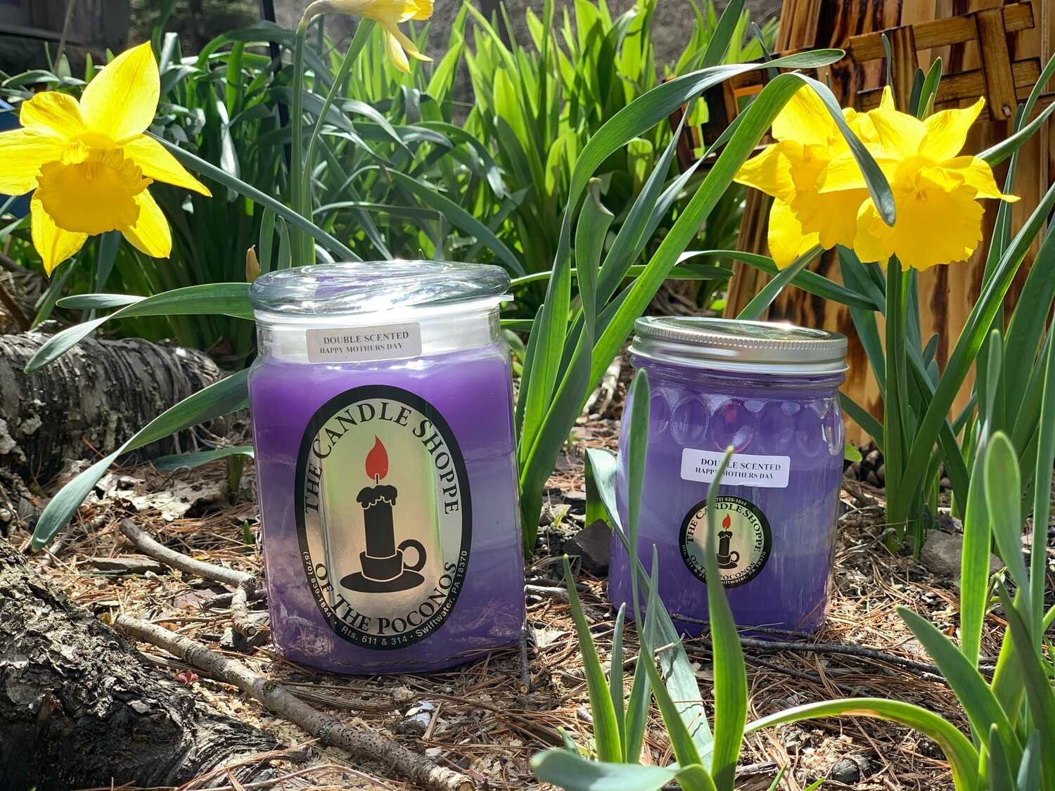 HAPPY MOTHER'S DAY CANDLES SET OF 2