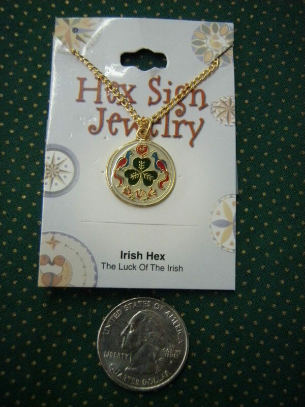 Irish hex gold colored necklace