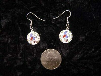 Vintage Distelfink earrings (silver metal color)