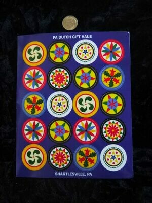 Set of 20 1″ Hex Sign Stickers