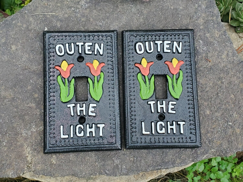 Single Outen the Light Switch Plate (Single Set)