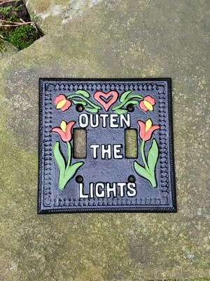 Outen the Light Switch Plate (Double)