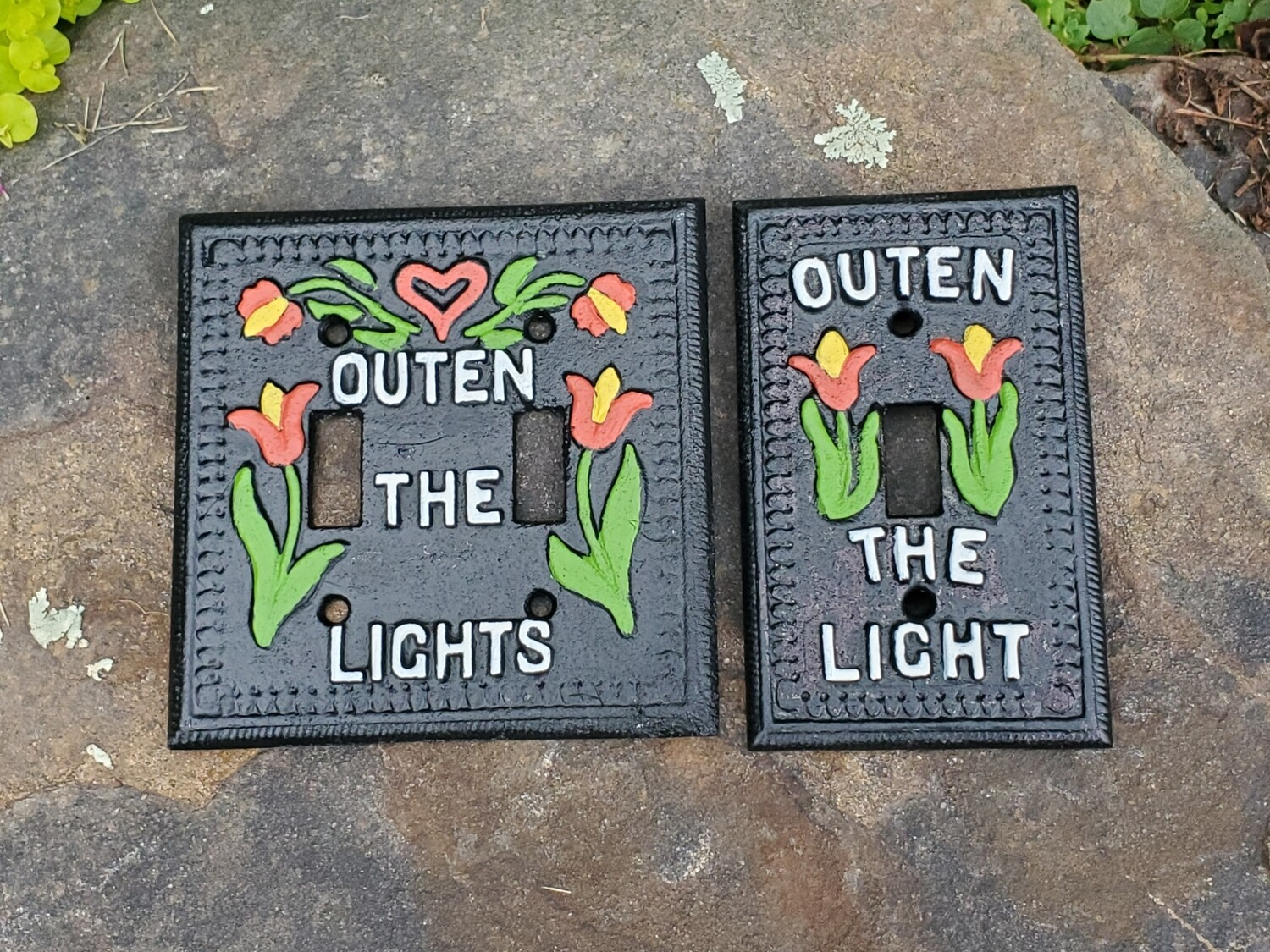Outen the Light Switch Plate (Double and Single Set)
